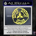 Klingon Batliff Sword CR Decal Sticker Yelllow Vinyl 120x120