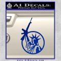 Lady Libery M 16 Assult Rifle Decal Sticker 2nd Amendment Blue Vinyl 120x120