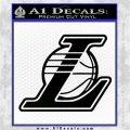Lakers L Decal Sticker NBA Los Angeles Black Logo Emblem 120x120