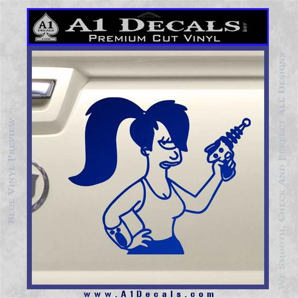 Leela Decal Sticker D8 Futurama Blue Vinyl
