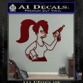 Leela Decal Sticker D8 Futurama Dark Red Vinyl 120x120