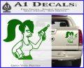 Leela Decal Sticker D8 Futurama Green Vinyl 120x97