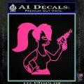 Leela Decal Sticker D8 Futurama Hot Pink Vinyl 120x120