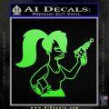 Leela Decal Sticker D8 Futurama Lime Green Vinyl 120x120