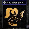 Leela Decal Sticker D8 Futurama Metallic Gold Vinyl Vinyl 120x120