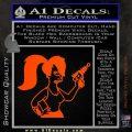 Leela Decal Sticker D8 Futurama Orange Vinyl Emblem 120x120