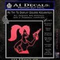 Leela Decal Sticker D8 Futurama Pink Vinyl Emblem 120x120