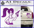Leela Decal Sticker D8 Futurama Purple Vinyl 120x97
