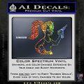 Leela Decal Sticker D8 Futurama Sparkle Glitter Vinyl 120x120