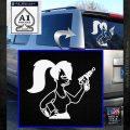 Leela Decal Sticker D8 Futurama White Emblem 120x120