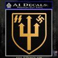 Nazi 2nd Panzer Division Decal Sticker Metallic Gold Vinyl Vinyl 120x120