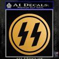 Nazi SS Decal Sticker DH Metallic Gold Vinyl Vinyl 120x120