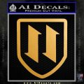Nazi SS Einsatzstaffel Decal Sticker Croatia Metallic Gold Vinyl Vinyl 120x120