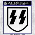 SS Nazi Decal Sticker Shield V2 Black Logo Emblem 120x120