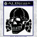 Totenkopf Deaths Head Decal Sticker WWII Panzer Nazi SS Black Logo Emblem 120x120
