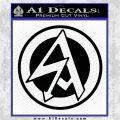 WW2 German Helmet Decals SA Runes Decal Sticker Black Logo Emblem 120x120