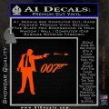 007 James Bond Bullet Decal Sticker Orange Vinyl Emblem 120x120