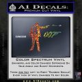 007 James Bond Bullet Decal Sticker Sparkle Glitter Vinyl 120x120