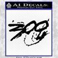 300 Movie Title Decal Sticker Sparta Black Logo Emblem 120x120