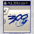 300 Movie Title Decal Sticker Sparta Blue Vinyl 120x120