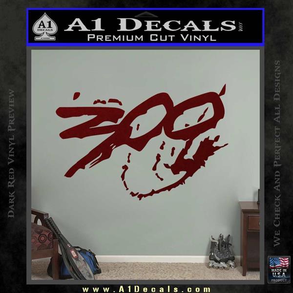 300 Movie Title Decal Sticker Sparta Dark Red Vinyl