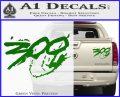 300 Movie Title Decal Sticker Sparta Green Vinyl 120x97