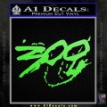 300 Movie Title Decal Sticker Sparta Lime Green Vinyl 120x120