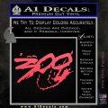 300 Movie Title Decal Sticker Sparta Pink Vinyl Emblem 120x120