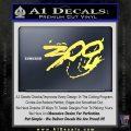 300 Movie Title Decal Sticker Sparta Yelllow Vinyl 120x120
