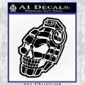 3D Skull Grenade Decal Sticker Black Logo Emblem 120x120