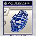 3D Skull Grenade Decal Sticker Blue Vinyl 120x120