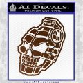 3D Skull Grenade Decal Sticker Brown Vinyl 120x120