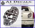 3D Skull Grenade Decal Sticker Carbon Fiber Black 120x97