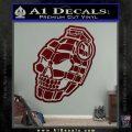 3D Skull Grenade Decal Sticker Dark Red Vinyl 120x120