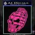 3D Skull Grenade Decal Sticker Hot Pink Vinyl 120x120