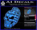 3D Skull Grenade Decal Sticker Light Blue Vinyl 120x97