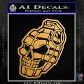 3D Skull Grenade Decal Sticker Metallic Gold Vinyl 120x120