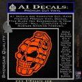 3D Skull Grenade Decal Sticker Orange Vinyl Emblem 120x120