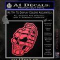 3D Skull Grenade Decal Sticker Pink Vinyl Emblem 120x120