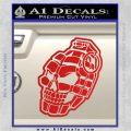 3D Skull Grenade Decal Sticker Red Vinyl 120x120