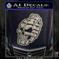 3D Skull Grenade Decal Sticker Silver Vinyl 120x120