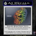 3D Skull Grenade Decal Sticker Sparkle Glitter Vinyl 120x120