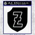 4th SS Panzer Division Decal Sticker Black Logo Emblem 120x120