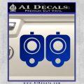 9mm Muzzle Pistol Gun Barrel Decal Sticker Blue Vinyl 120x120
