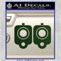 9mm Muzzle Pistol Gun Barrel Decal Sticker Dark Green Vinyl 120x120
