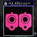 9mm Muzzle Pistol Gun Barrel Decal Sticker Hot Pink Vinyl 120x120