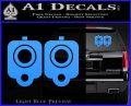 9mm Muzzle Pistol Gun Barrel Decal Sticker Light Blue Vinyl 120x97