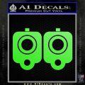 9mm Muzzle Pistol Gun Barrel Decal Sticker Lime Green Vinyl 120x120