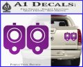 9mm Muzzle Pistol Gun Barrel Decal Sticker Purple Vinyl 120x97