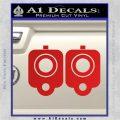 9mm Muzzle Pistol Gun Barrel Decal Sticker Red Vinyl 120x120